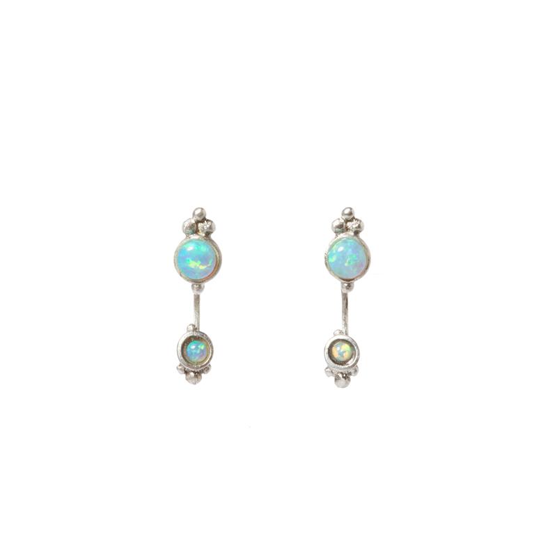 Giuliatamburini -  Bianca I Argento 925 e opali