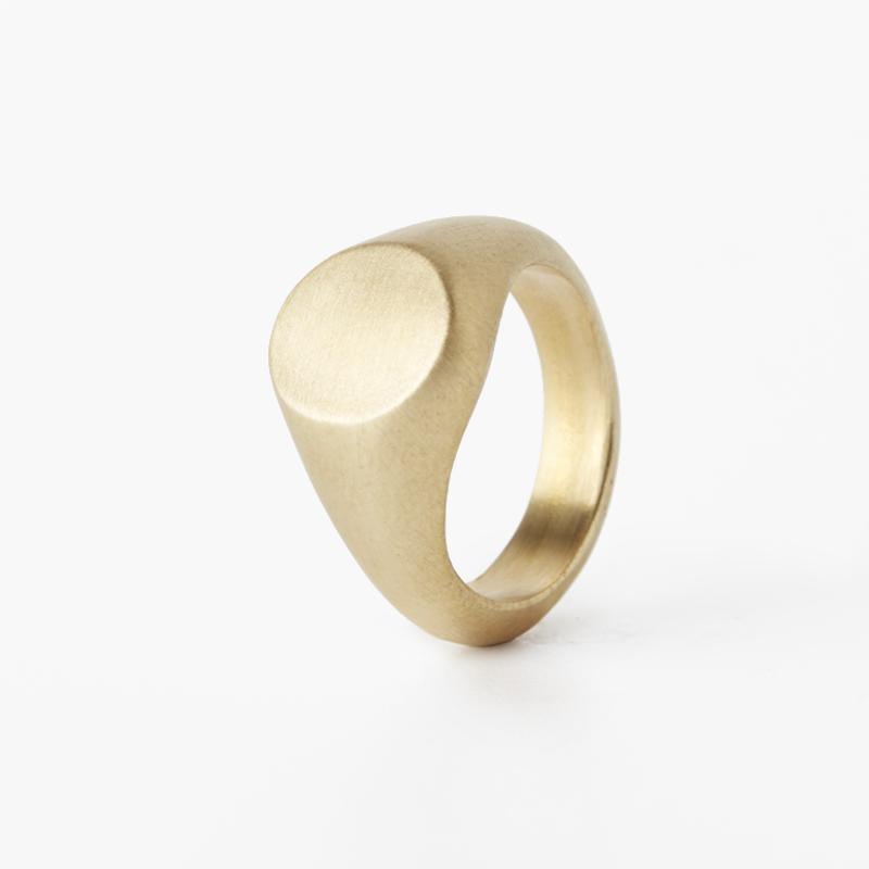 Giuliatamburini -  Round chevalier for little finger Oro giallo 18 kt