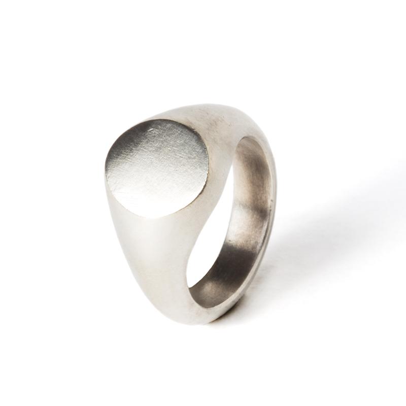 Giuliatamburini -  Round chevalier for little finger Argento 925
