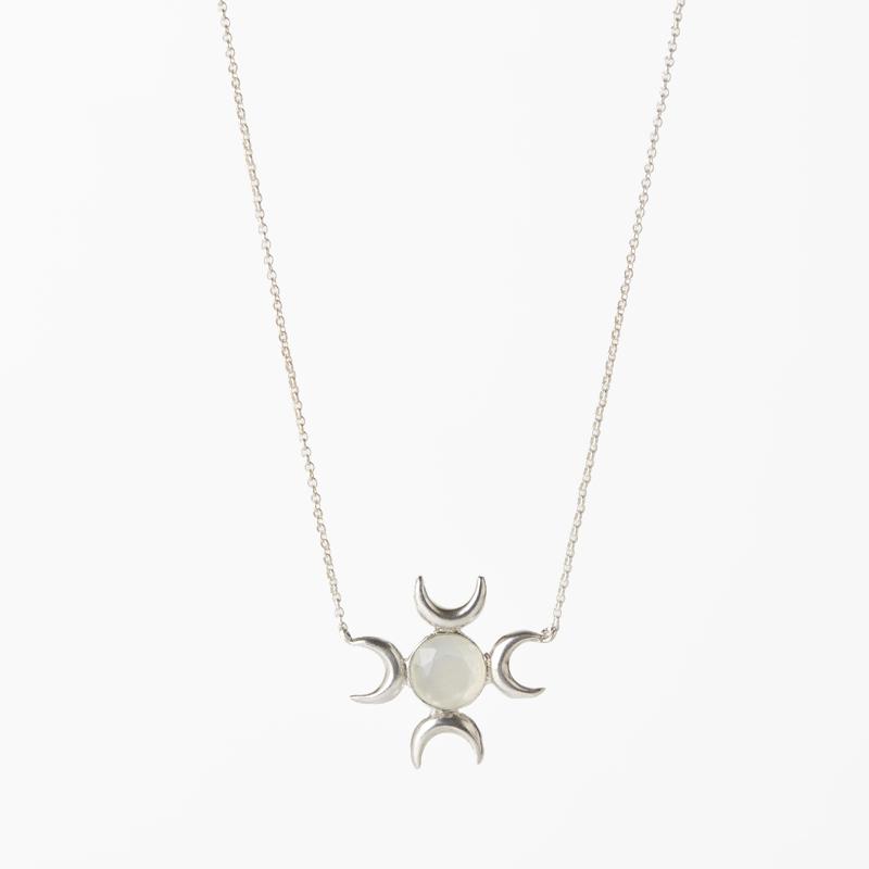 Giuliatamburini - Collane Eclissi II Argento 925 e pietra di luna