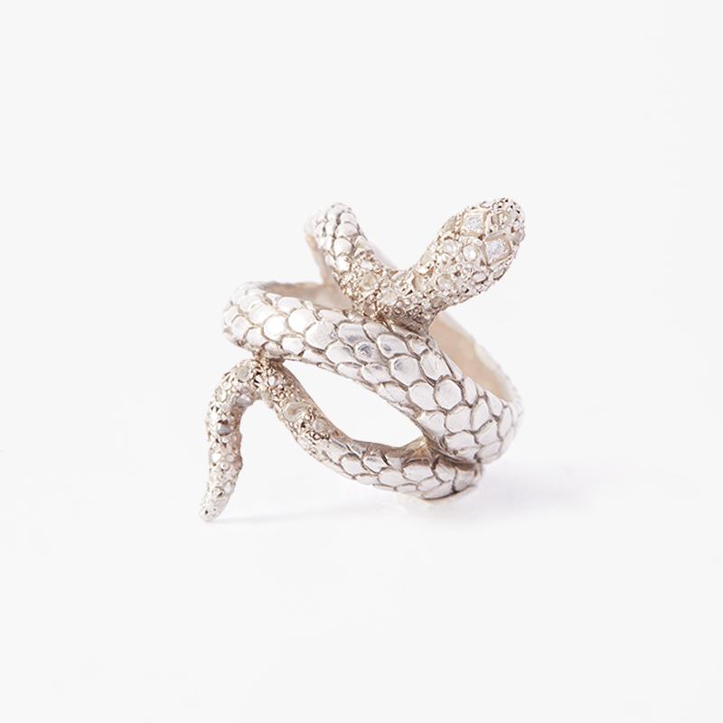 Giuliatamburini -  Ettore Argento 925 con pavè di diamanti champagne