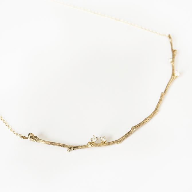 Giuliatamburini - Collane Gea II Oro giallo 9 kt e diamanti