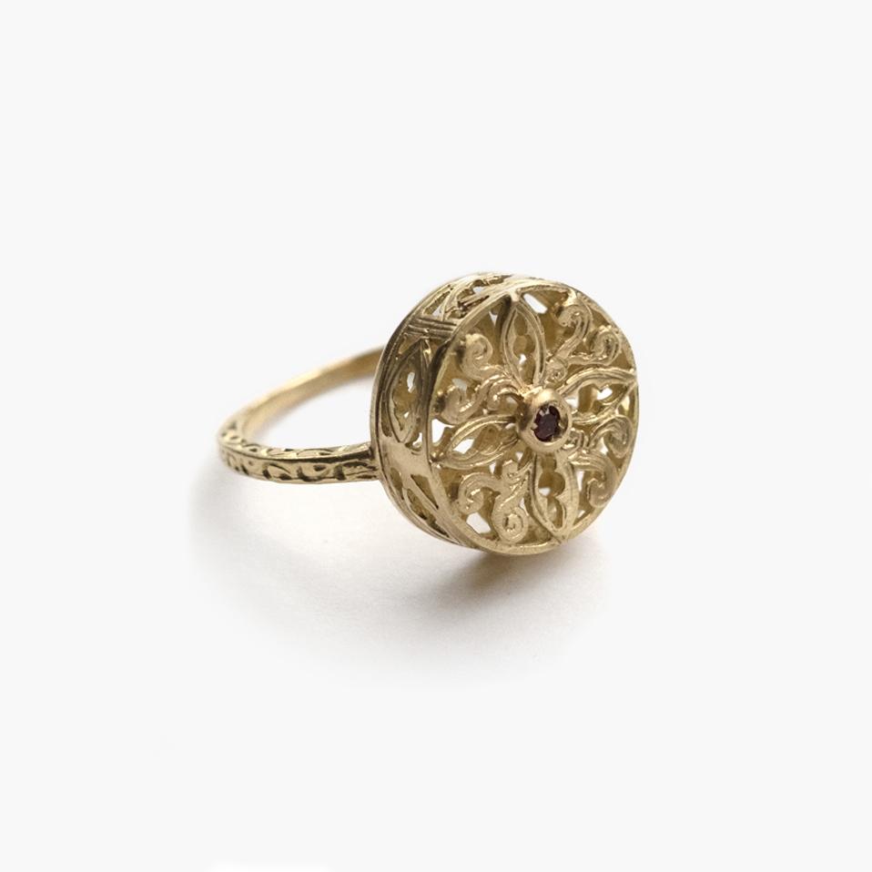 Giuliatamburini -  Petra Oro giallo 18 kt con rubino
