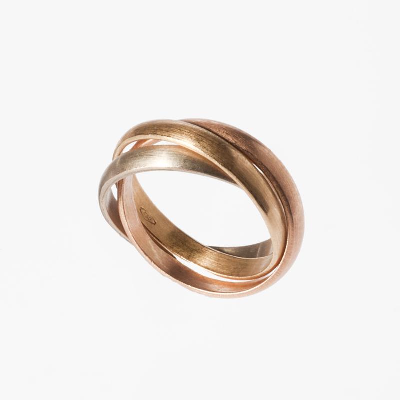 Giuliatamburini - Fedi Tre ori wedding ring